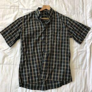 Light Black Button down men shirt